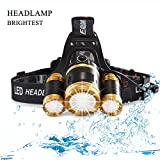 6000 Lumen Bright LED Headlamp