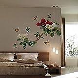 Qjhdg Chinesische Klassischen Stil Reich Blume Offen Abnehmbare Umweltschutz Wohnzimmer Sofa Schlafzimmer Nacht Tv Hintergrundbild 60X90Cm
