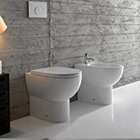 Sanitari Filo Parete Ceramica Globo 4ALL MULTI WC + BIDET + SEDILE
