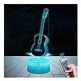 3D Gitarre Lampe LED Nachtlicht mit Fernbedienung