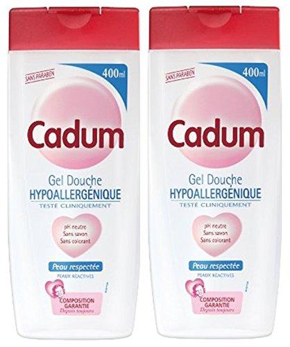 Cadum - Gel Douche Hypoallergénique Au PH Neutre, Sans Savon & Sans Colorant - 400 ml - Lot de 2