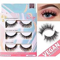 Falses Eyelashes Vegan Beauty Products 4d Silk Fiber Lash Multipack Eyelash Extension Strip Natural Mink False Eye Lashes Makeup Set Faulse Eyelash Face