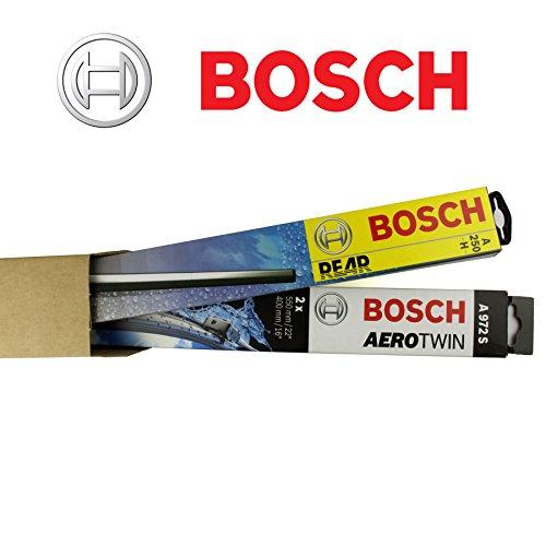 Preisvergleich Produktbild BOSCH AR813S + H351 KOMPLETT SET SATZ VORNE + HINTEN SCHEIBENWISCHER / WISCHBLÄTTER + 2x Ersatzgummi + 2x T10 Lampen