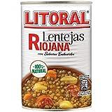 Litoral Lentejas Riojana - Plato Preparado Sin Gluten - Pack de 6 x 430 gr