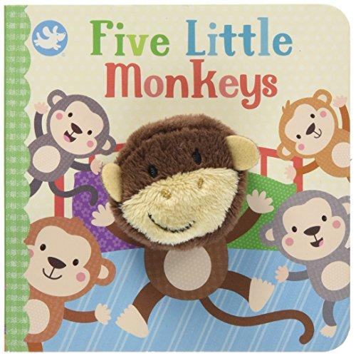Little Learners Five Little Monkeys Finger Puppet Book