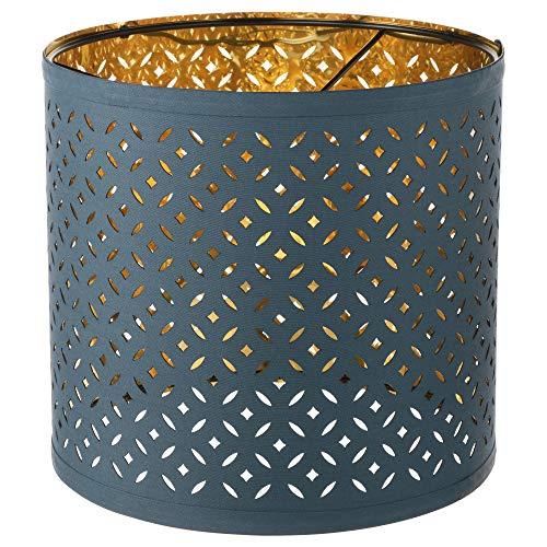 IKEA 903.407.88 Nymö - Pantalla para lámpara (latón), color azul