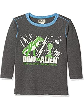 Hatley Long Sleeve Glow In The Dark Graphic tee, Camiseta de Manga Larga para Niños