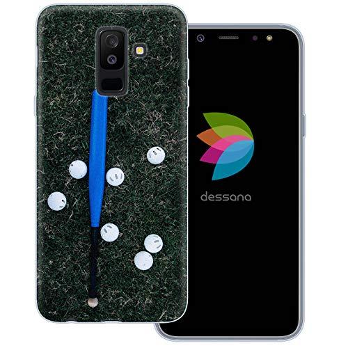 dessana Baseball Transparente Schutzhülle Handy Case Cover Tasche für Samsung Galaxy A6+ (2018) Batter Schläger Mlb Baseball-handy
