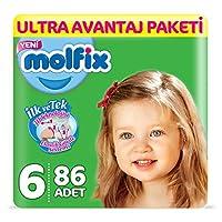 Molfix 3D Bebek Bezi, Extra Large 6 Beden