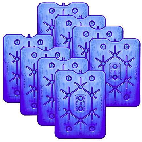 NEMT 8X Flacher Kühlakku 800 ml Kühlakkus 25 x 32,5 x 1,5 cm Kühlelemente Kühltasche Kühlbox