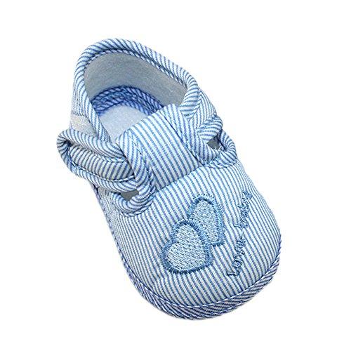 Xiangze Bebé zapatos cuna suave zapatos (M(6-9 meses), Azul)