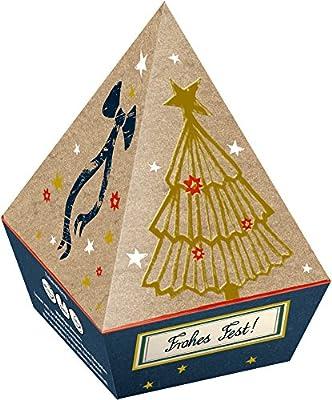 Coffret Cadeau Pyramide avec 6 Sachets de Thé Noir Noel Arbre de Noël