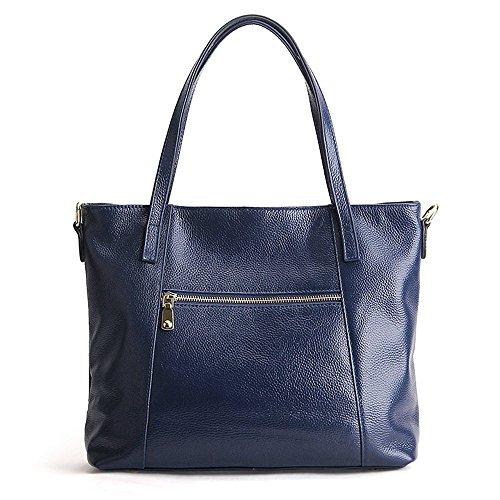 SUNROLAN Damen Tasche Handtaschen Shopper Damentasche Praktisch 34x12x28cm (L xB x H) Dunkelblau Dunkelblau