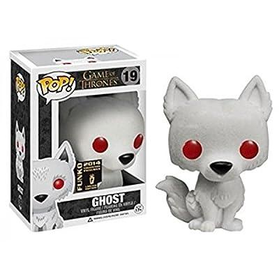 Funko - Figurine Game Of Thrones - WireWolf Ghost Flocked Exclu Pop 10cm - 0849803043162