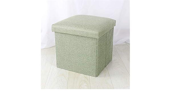 kkyrjd Pouf a cubo con vano portaoggetti Lo Sgabello di