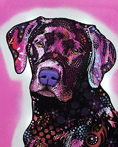 Black Lab Dog Animal Modern Art Decorative Poster Print- Size: 30