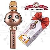 Microfono karaoke,Microfono Wireless Karaoke Bambini Bluetooth senza fili Portatile tenuto in mano karaoke Mic,Home Party Natale Compleanno Altoparlante macchina per iPhone /Smartphone Android