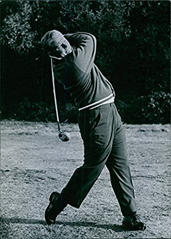 Vintage photo of A photograph of Mr. Jack Nicklaus when he was playing golf.