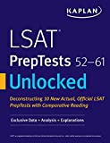 LSAT PrepTests 52-61 Unlocked: Exclusive Data + Analysis + Explanations (Kaplan Test Prep)