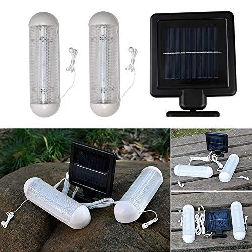 LED Solar Schuppen Licht Außen Solar Wandlicht Lampe Außen Innen Wasserdicht Sicherheit Glashaus Arbeits Worksman Garten Licht für Garage, Schuppen Stabil Garten Hof (Arbeit Schuppen)