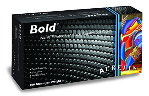aurelia-bold-black-nitrile-textured-powder-latex-free-examination-gloves-100-bx-x-small-5-mil-by-aur