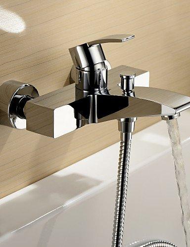 AI LI WEI Bathroom Furniture - Chrome Finish Single Handle Wall Mount Bathtub Faucet