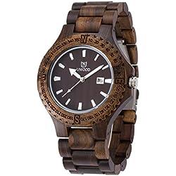 Handmade Black Sandal Wooden Quartz Movement Wood Watch For Men Dress Luxury Wood Watch