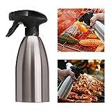 Essig und Ölsprüher Pump Öl-Zerstäuber Essig-Zerstäuber - Tragbar Öl Essig Spender Flasche Küche Werkzeug für Tägliches Kochen/BBQ/Picknick im Freien und Camping (500ml)