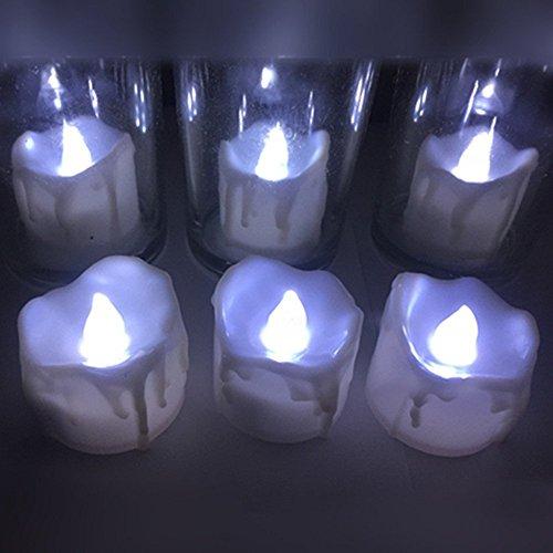 atcket (weiß, 12Stück) batteriebetrieben Kunststoff LED Teelichter Flammenlose Tee Kerze für Hochzeit Geburtstag Party - Deko-ideen Für Halloween Der Arbeit Bei