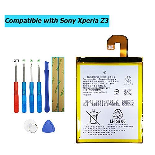 Upplus LIS1558ERPC - Batería de Repuesto Compatible con Sony Ericsson Xperia Z3...