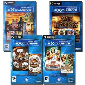 Pack Age of Mythology + Empire Collector + Empire II Gold +...