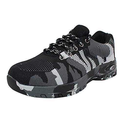 uirend Scarpe da Uomo Sneaker - Testa d'Acciaio Scarpe da Lavoro Calzature Sport Outdoor Resistenza alle punture Leggero Impermeabile Traspirante, 46 EU