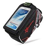 Aosbos Fahrrad Rahmentasche Wasserabweisende Fahrradtasche mit Handyhalterung für 6,0 / 4,8 Zoll Handy