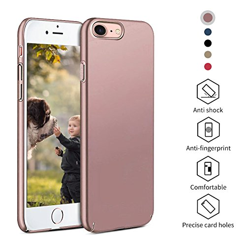 iPhone 7 Plus Hülle Matte Slim Case Alle Ultra Dünn,High-Quality Shock iPhone 7Plus Hülle,All-Fingerprint,Anti-Screatch Telefon Cover Für Apple 7 Plus (5,5 Zoll-Gold) Meidu Gold Hülle
