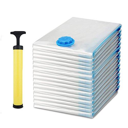 Beautytalk 15 Set Vakuumbeutel mit Handpumpe Aufbewahrungsbeutel 3 Maße Vakuumierbeutel, Kleiderbeutel, Aufbewahrungsbeutel kleidung 40*60 60*80 80*120(DE Lager)