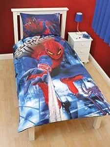 Parure housse de couette Linge de maison Cars Spiderman 3D Lit 1 Personne Decoration chambre Enfant Garcon