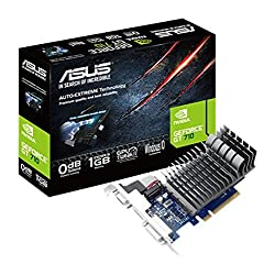 ASUS GT 710 1GB DDR3 64bit Dual Slot, Passive Low Profile Graphics Cards 710-1-SL