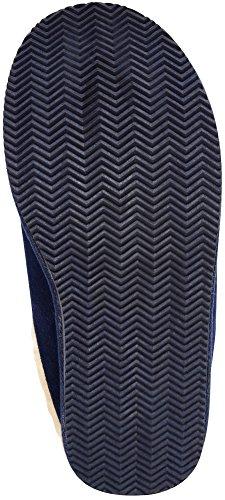 SNUGRUGS Newbury, Sheepskin Mule Slipper with Rubber Sole, Pantofole Uomo Blu (Navy)
