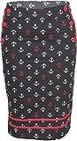 Küstenluder Damen Rock Verda Anchor Sailor Pencil Skirt Mehrfarbig XL