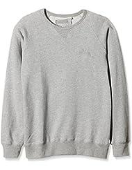 Lonsdale Sweatshirt Cricklade - sudadera Hombre, Gris (Marl Grey), Medium (Talla del fabricante: Medium)