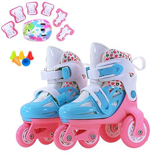 ZCRFY Einstellbare Inline-Skates Der Kinder Rollschuhe Zweireihig Vier Roller Rollerblades Für Anfänger Mädchen Jungen Kid 2-12 Jahre Alt Geburtstag...