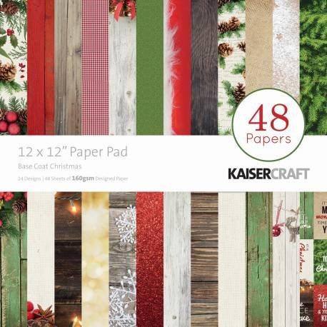 "Kaisercraft Paper Pad 12""X12"" 48/Pkg-Basecoat Christmas"