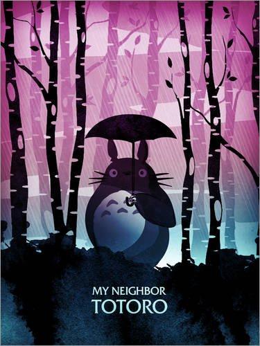Póster 30 x 40 cm: My Neighbor Totoro de Albert Cagnef - impresión artística, Nuevo póster artístico