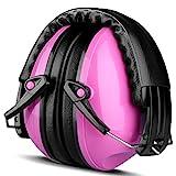 Gehörschutz für Baby und Kinder, ECHTPower Kapselgehörschutzer Ohrenschützer für Kids, Ab 12 Monaten bis 15 Jahre, SNR 25dB, Pink