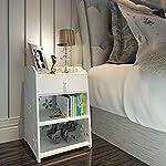 moderne Simple Nightstand Armoire de rangement, Blanc Sculpté ...