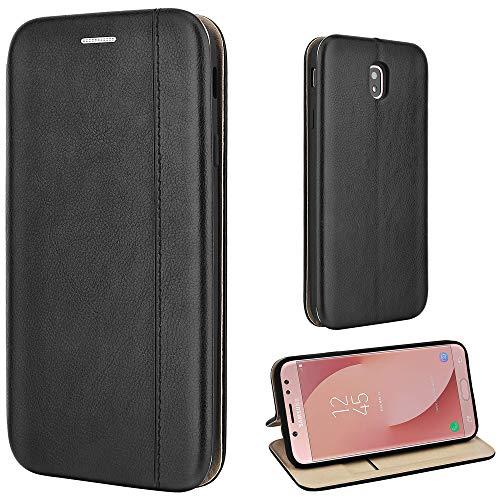 Leaum Handyhülle für Samsung Galaxy J7 2017 Hülle Leder Tasche Flip Case Kompatibel mit