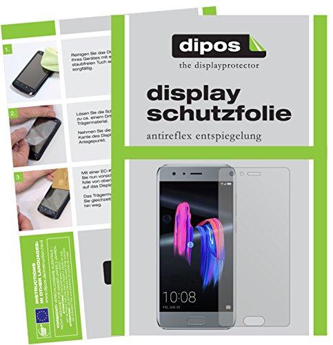 dipos I 6X Schutzfolie matt passend für Huawei Honor 9 Folie Displayschutzfolie