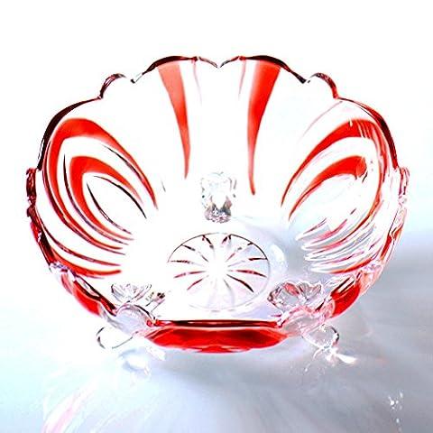 large crystal glass fruit dish European style modern Creative salad