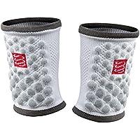 Compressport Sweat Band 3D Dots Polsino da Gara e Allenamento, Bianco