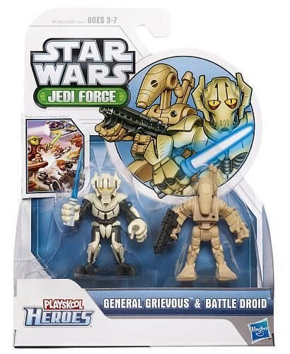Playskool Heroes Star Wars Jedi Force 2-Pack - General Grievous and Battle Droid